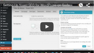 WordPress.com Migration to Godaddy Yoast SEO Setup fix