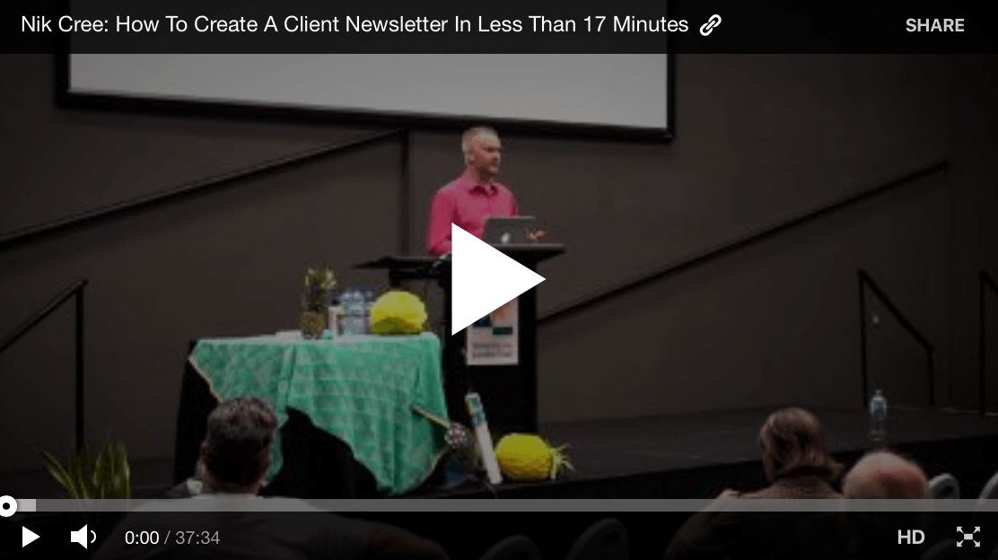37 Min Video Creating A Client Newsletter In Less Than 17 Minutes by @PositiveBiz