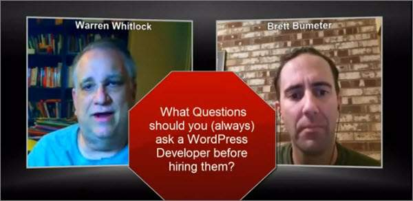 Don't forget to ask Your Web Developer thisQuestion!