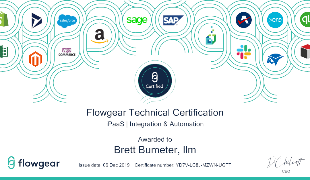 Completed Flowgear Certification